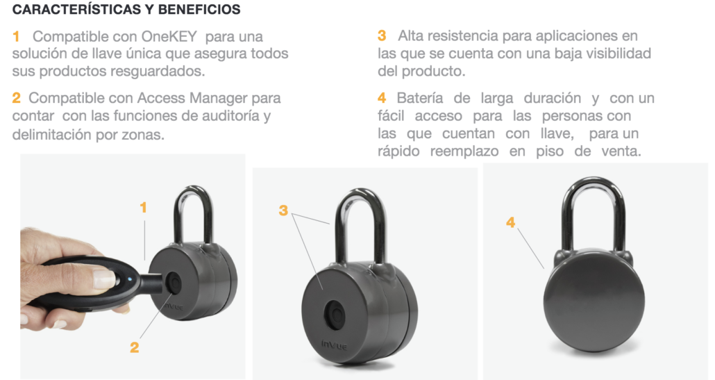 beneficio padlock invue